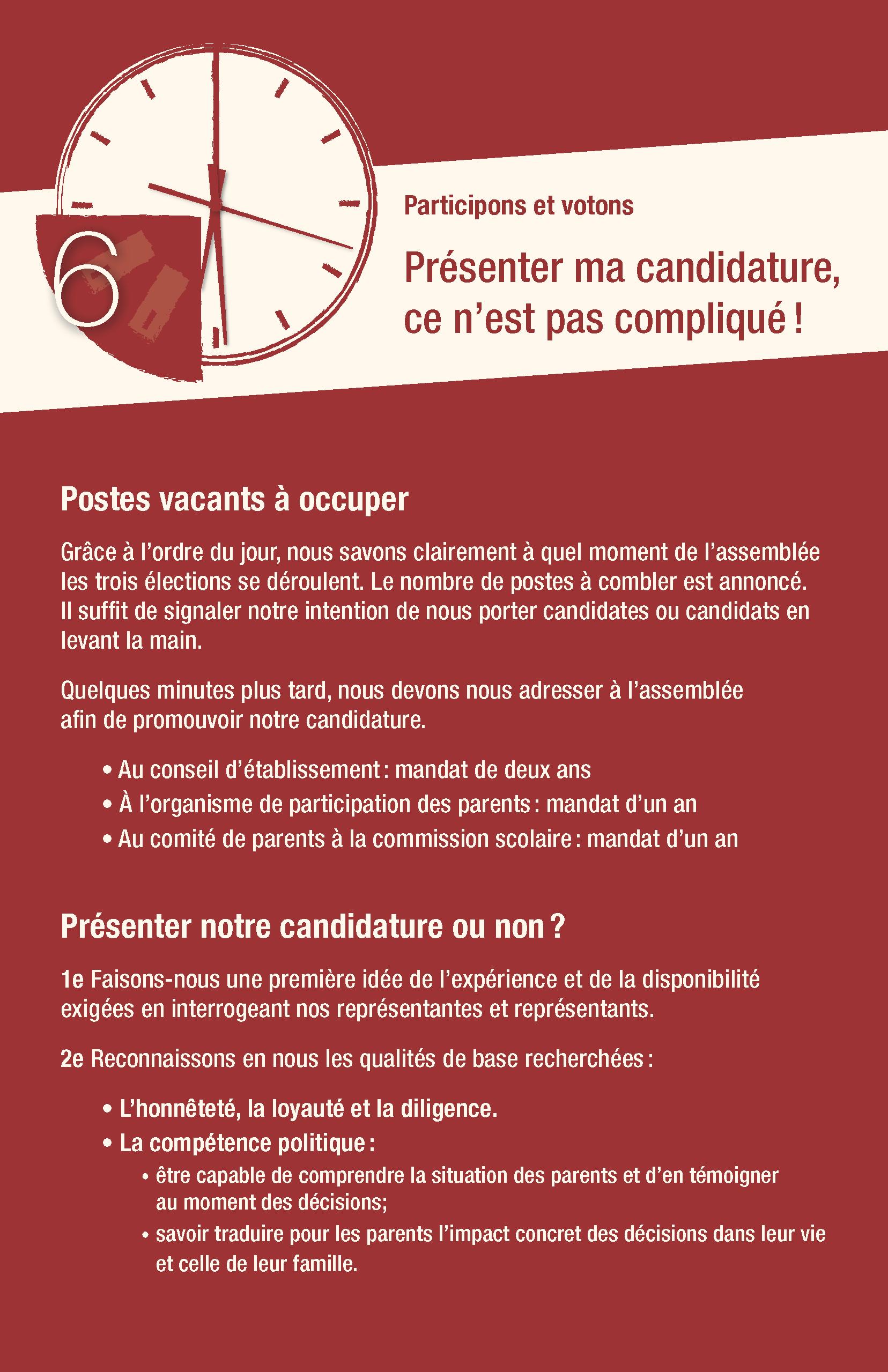 6<sup>e</sup> conseil : Présenter ma candidature, ce n'est pas compliqué !